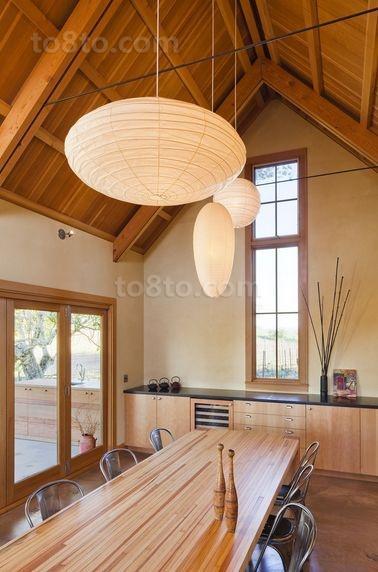 木艺朴质的小户型餐厅吊顶装修效果图大全2014图片