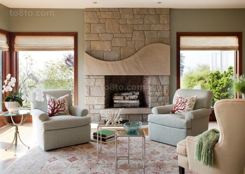 美式复式楼客厅装修效果图大全2014图片