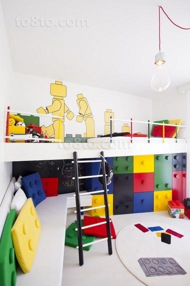 现代简约创意儿童房装修效果图