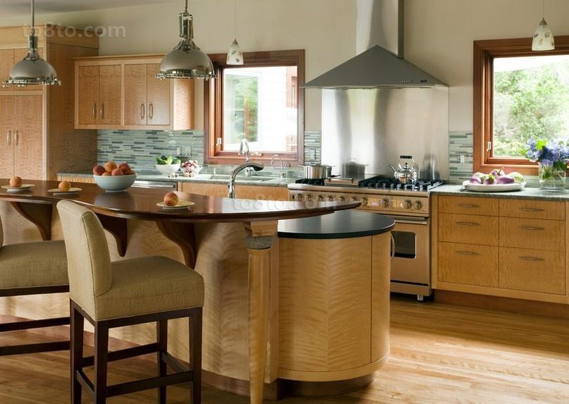 美式复式楼厨房装修效果图大全2014图片