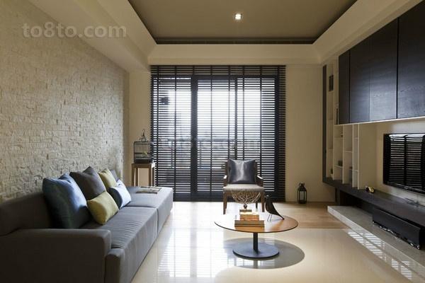 201872平米现代小户型客厅装修实景图片大全 土巴兔装修效果图