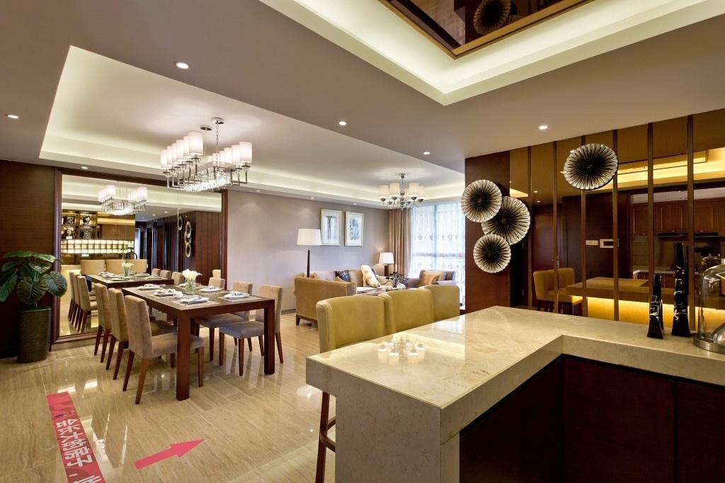 家装餐厅吧台装修效果图