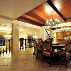 精选面积144平别墅餐厅混搭装修欣赏图
