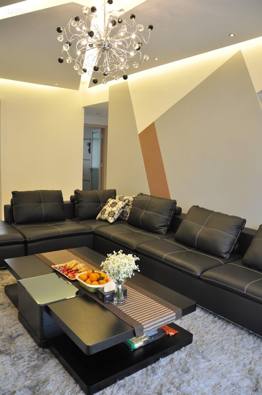 三室两厅现代风格客厅装修效果图大全2014图片
