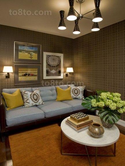 16万打造豪华美式风格客厅装修效果图大全2014图片