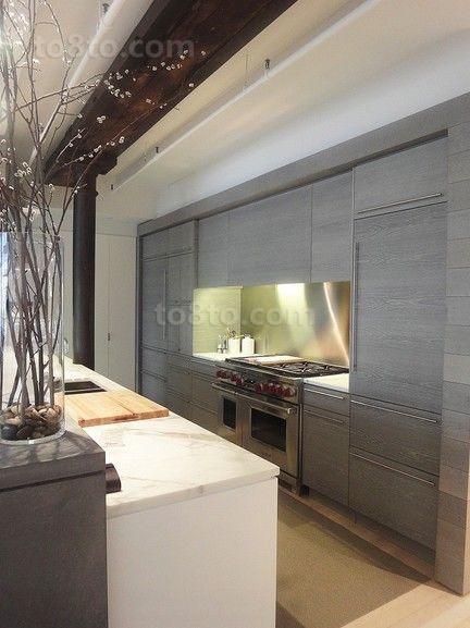 现代别墅厨房装修厨房橱柜效果图大全2014图片