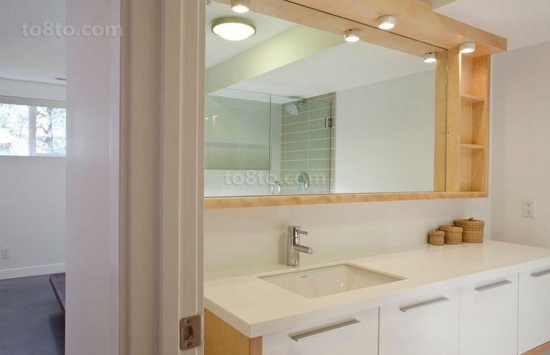 70平米小户型简约卫生间装修效果图大全2014图片