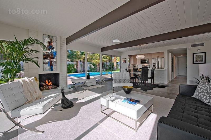 欧式简约别墅装修效果图  空旷舒适的客厅