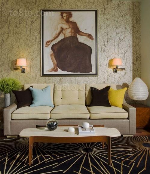 16万打造豪华美式风格装修客厅图片
