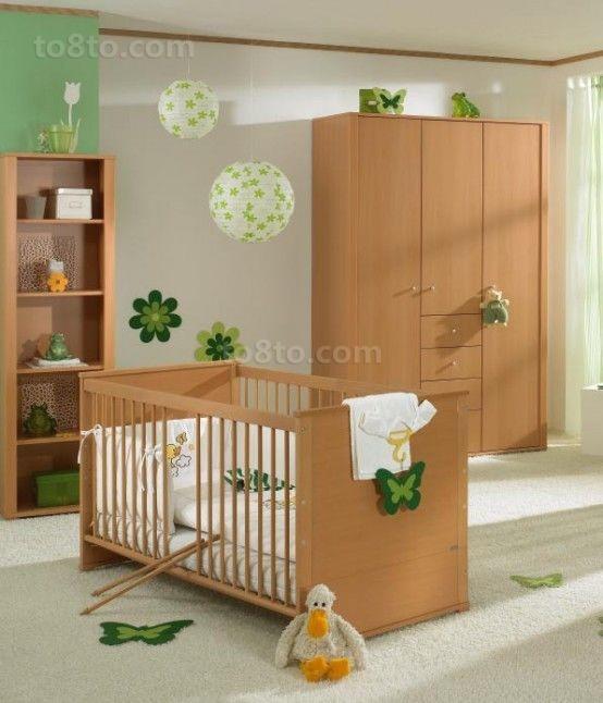 绿色清新的宝宝儿童房装修效果图大全2014图片