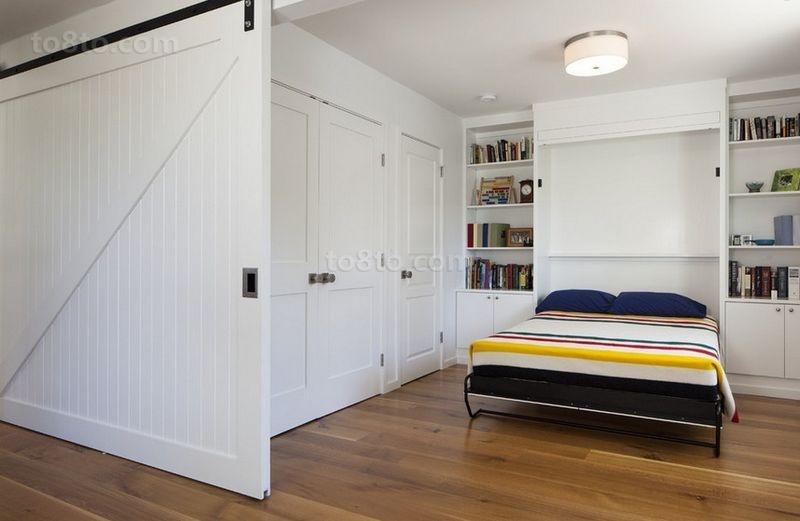 105平米二居室简约风格卧室装修效果图大全2014图片