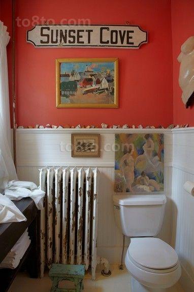 15万打造美式乡村风格装修卫生间图片