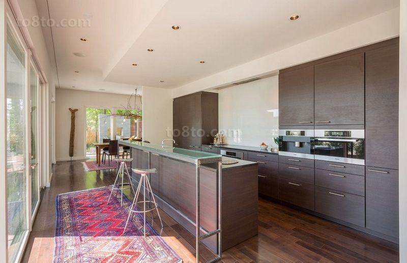 120平三房两厅美式现代风格厨房装修效果图大全2014图片