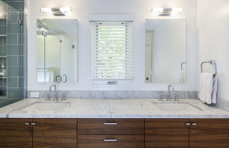 105平米二居室简约风格卫生间装修效果图大全2014图片