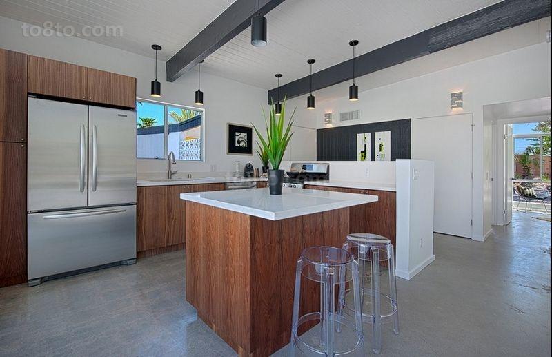 现代别墅厨房装修效果图大全2014图片