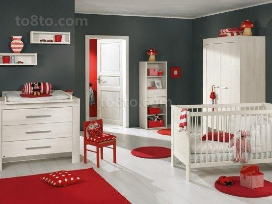 红色热情的儿童房装修效果图大全2012图片