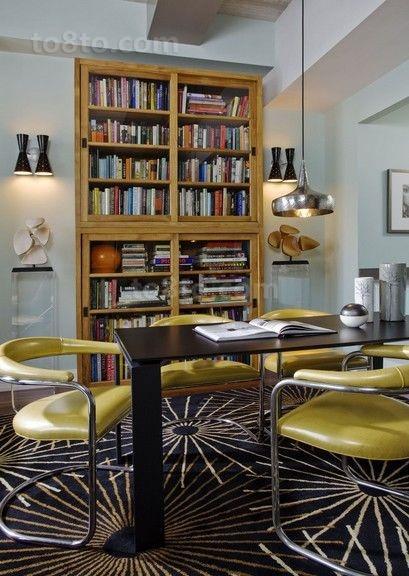 16万打造豪华美式风格装修书房图片