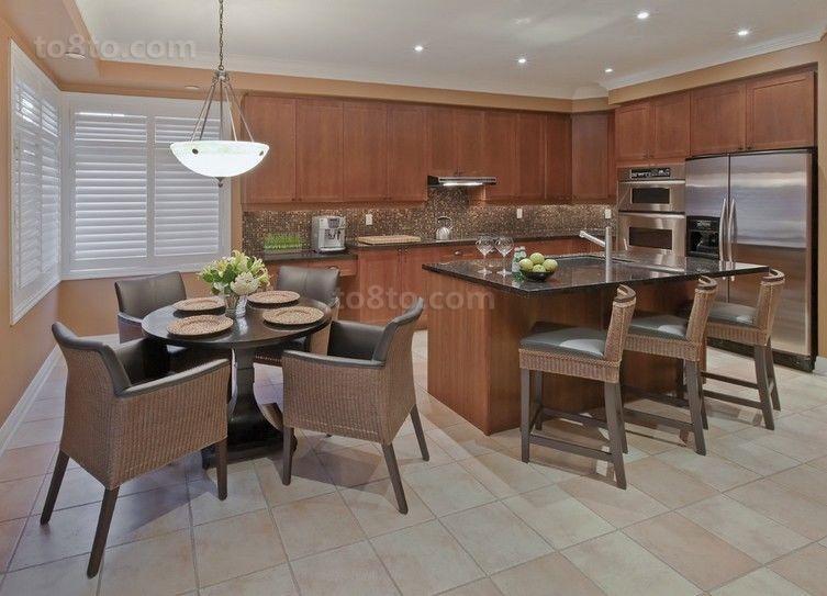 美式三室两厅厨房装修效果图大全2014图片