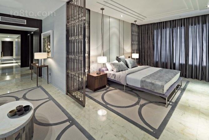 豪华舒适的后现代装修风格卧室图片