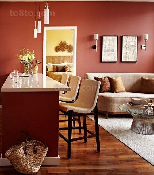 2012客厅餐厅装修效果图 冬季小户型客厅装修搭配