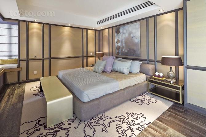 豪华打造的120平后现代装修风格卧室图片
