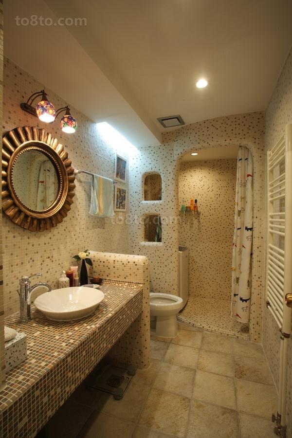 美式风格卫生间马赛克瓷砖效果图