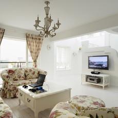热门面积125平复式客厅地中海装修欣赏图