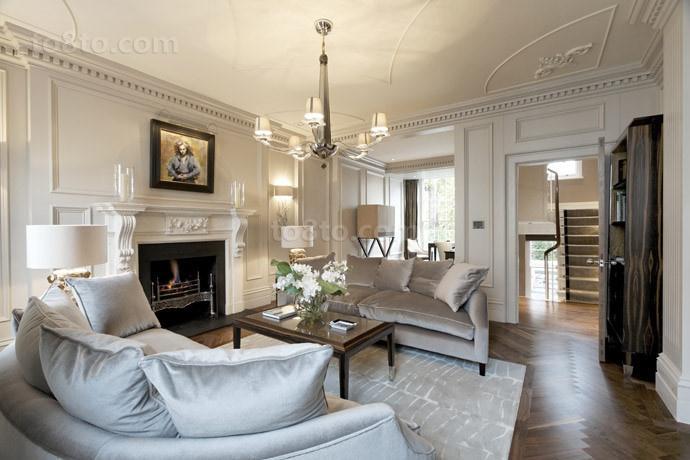 三室两厅欧式浪漫的装修效果图大全2014图片