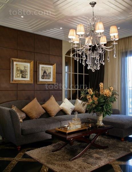 奢华欧式装修效果图客厅图片