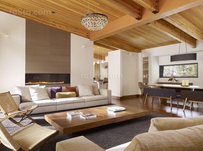欧式乡村风味的三居室客厅装修效果图大全2014图片