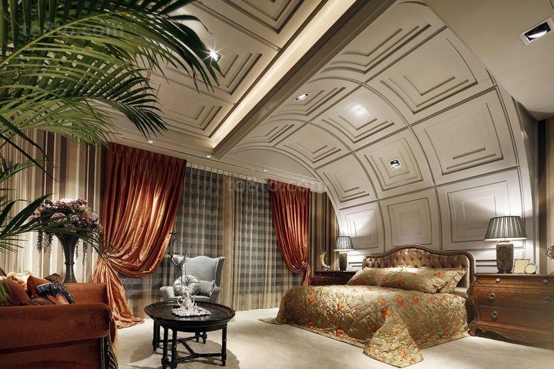 别墅图片大全 浪漫典雅的卧室装修效果图
