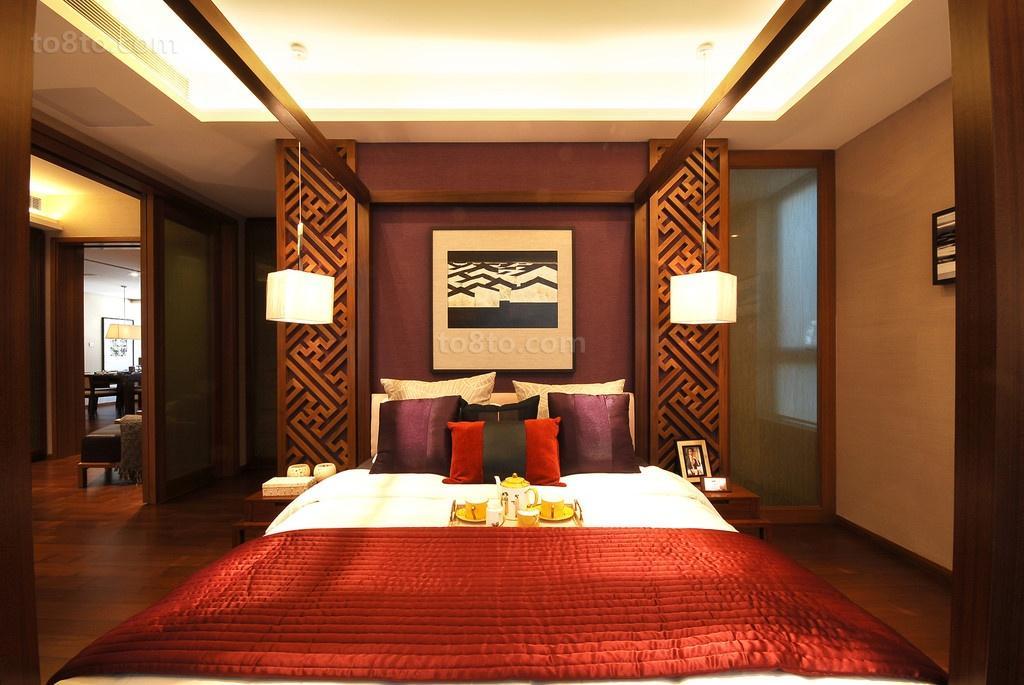20万打造中式卧室装修效果图大全2014图片