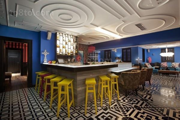 浪漫的享受地中海风格餐厅吊顶装修效果图