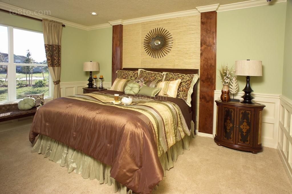 美式田园卧室飘窗装修效果图大全2013图片