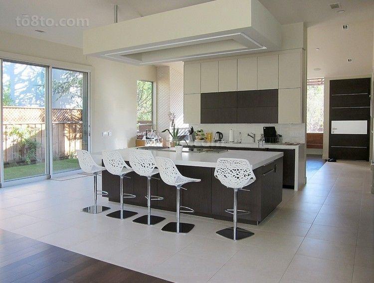 三居室简欧风格厨房装修效果图大全2014图片