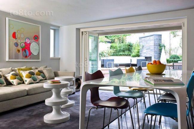 75平小户型现代风格客厅装修效果图大全2014图片