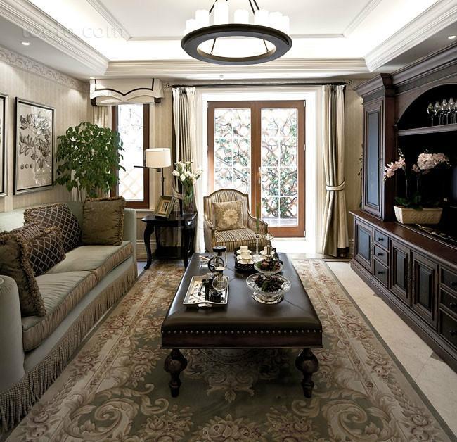 欧式奢华的别墅客厅装修效果图大全2014图片