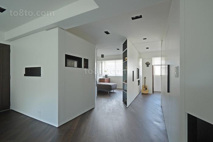 45平米小户型灰色调玄关装修效果图大全2013图片
