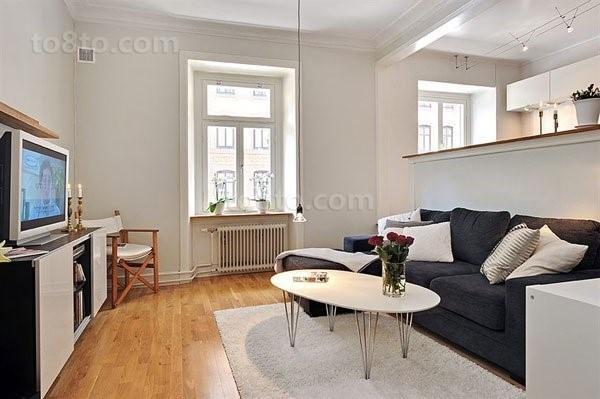 干净明亮的小户型客厅装修效果图大全2014图片