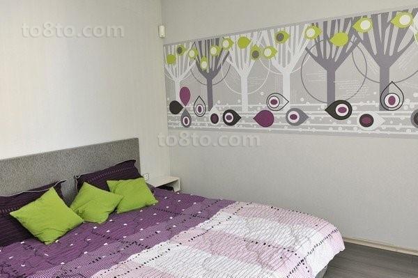 紫色情迷打造小户型卧室装修效果图大全2014图片