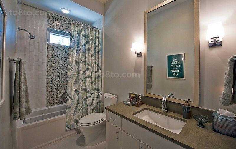 温馨宜人的小户型卫生间装修效果图大全2014图片