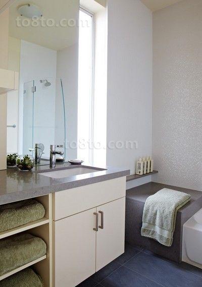 80后喜欢的小户型简约卫生间装修效果图大全2012图片