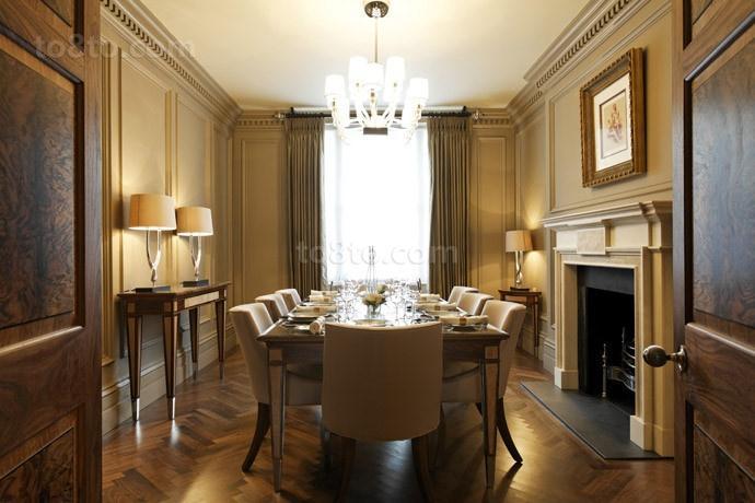 三室两厅欧式浪漫的餐厅装修效果图
