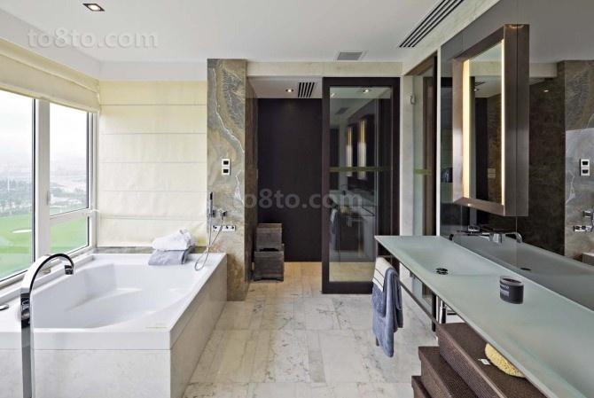 豪华舒适的后现代装修风格卫生间图片