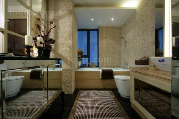 奢华欧式装修效果图卫生间图片