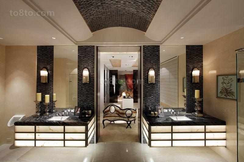 别墅图片大全 美式奢华的卫生间装修效果图