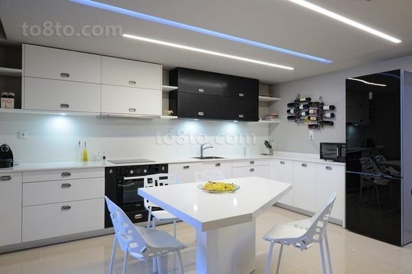 90㎡小户型现代厨房修效果图大全2014图片
