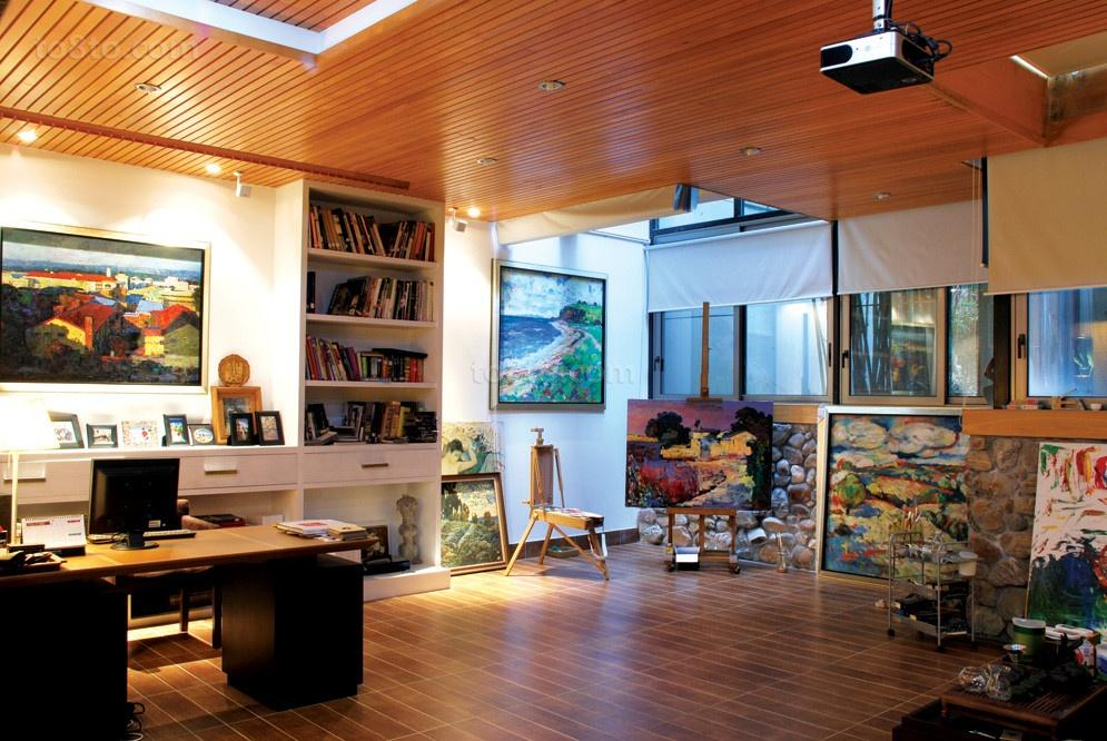 运用温馨的主题打造美式风格装修书房图片