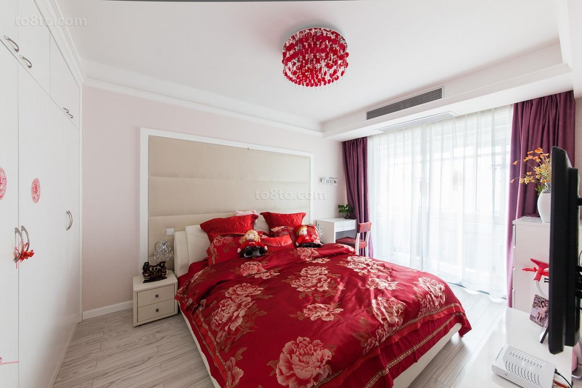精选83平米现代小户型卧室装修实景图