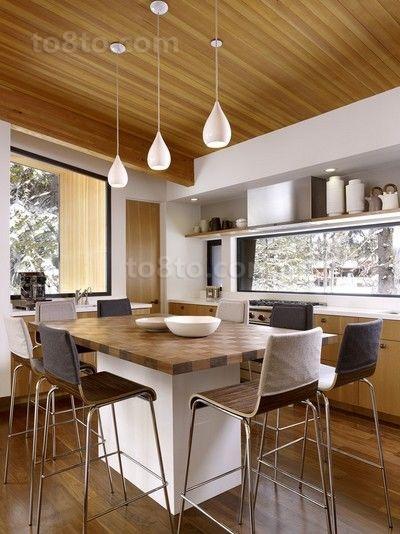 欧式乡村风味的三居室餐厅装修效果图大全2014图片